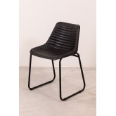 Zekal Leather Dining Chair, thumbnail image 3
