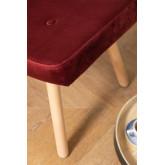 Velvet Upholstered Footstool Morris Edition , thumbnail image 4