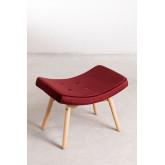 Velvet Upholstered Footstool Morris Edition , thumbnail image 2