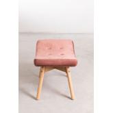Velvet Upholstered Footstool Morris Edition , thumbnail image 3