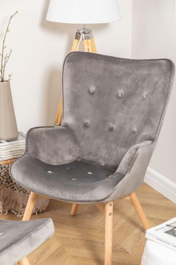 Armchair Upholstered in Velvet Morris Edition