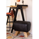 Low Stool in Finda Leather, thumbnail image 1