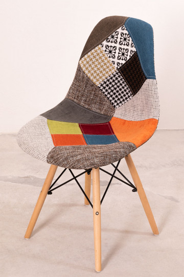 Upholstered Patchwork Scand SK Dining Chair