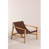 Leatherette and Wooden Armchair Harris, thumbnail image 1