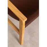 Leatherette and Wooden Armchair Harris, thumbnail image 2