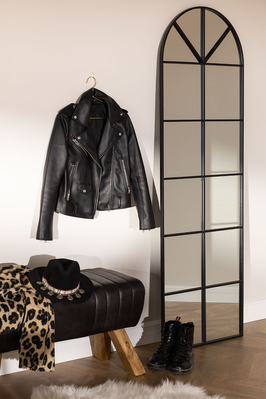 Wall Mirror in Metal Window Effect (180x59 cm) Paola L, gallery image 1