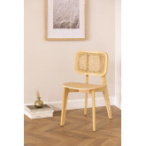 Defne Wood Dining Chair, thumbnail image 1