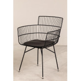 Metal Chair with Cuadry Armrests, thumbnail image 2