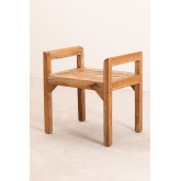 Recycled Wood Bench with Armrests Parans, thumbnail image 2