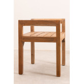 Recycled Wood Bench with Armrests Parans, thumbnail image 3