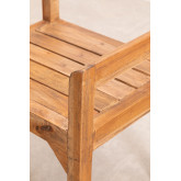 Recycled Wood Bench with Armrests Parans, thumbnail image 4