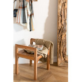 Recycled Wood Bench with Armrests Parans, thumbnail image 1