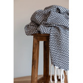 Plaid Blanket in Tajum Cotton, thumbnail image 1