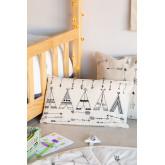 Rectangular Cotton Cushion (30x50 cm) Indi Kids, thumbnail image 1