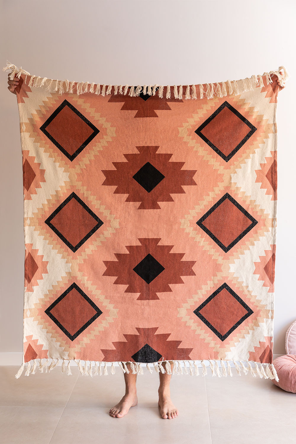 Kelsy Cotton Plaid Blanket, gallery image 1