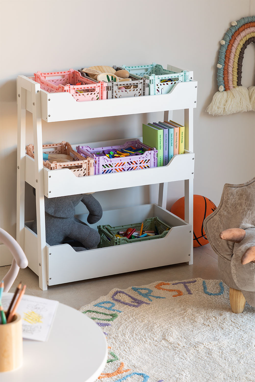 Rielle Kids Wooden Toy Organizer Cabinet, gallery image 1