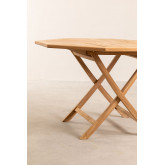 Set of Folding Garden Table and 4 Chairs in Teak Wood Pira, thumbnail image 6