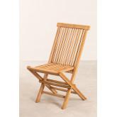 Pack 2 Foldable Garden Chairs in Teak Wood Pira, thumbnail image 2
