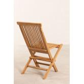 Pack 2 Foldable Garden Chairs in Teak Wood Pira, thumbnail image 5