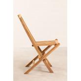 Pack 2 Foldable Garden Chairs in Teak Wood Pira, thumbnail image 4