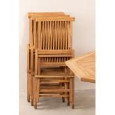 Pack 2 Foldable Garden Chairs in Teak Wood Pira, thumbnail image 6