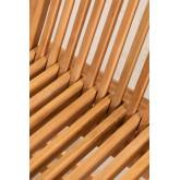 Pack 2 Foldable Garden Chairs in Teak Wood Pira, thumbnail image 3