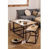 Bavi Mango Wood Nido Tables, thumbnail image 1