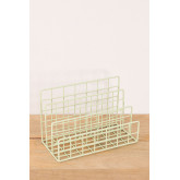 Metal Magazine Rack with Compartments Bok, thumbnail image 1