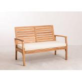 2 Seater Teak Wood Garden Sofa Adira, thumbnail image 2