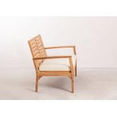 2 Seater Teak Wood Garden Sofa Adira, thumbnail image 3