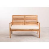 2 Seater Teak Wood Garden Sofa Adira, thumbnail image 5