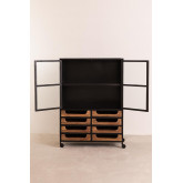 Emberg Wooden Display Cabinet with Drawers, thumbnail image 3