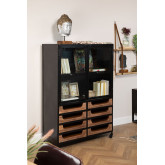 Emberg Wooden Display Cabinet with Drawers, thumbnail image 1