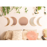 Wall Mirrors in Wood 5 pieces Estel, thumbnail image 1