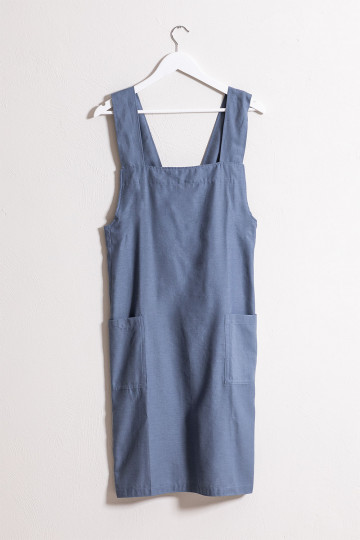 Violet Linen and Cotton Apron
