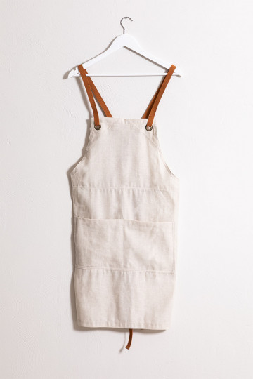 Zacari Linen and Cotton Apron