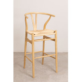 High Stool with Back in Uish Wood, thumbnail image 2