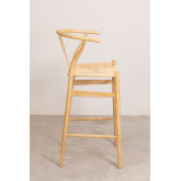 High Stool with Back in Uish Wood, thumbnail image 3