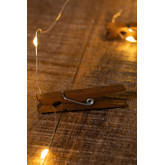 Decorative LED peg Garland  Pitres, thumbnail image 4