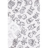 Washable Tablecloth with 12 Liam Kids Coloring Markers, thumbnail image 4