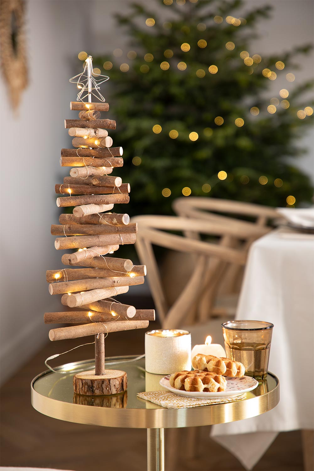 Wooden Christmas Tree with LED Lights Madi , gallery image 1