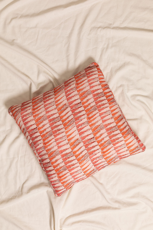 Zugui Square Cotton Cushion (50x50cm), gallery image 1
