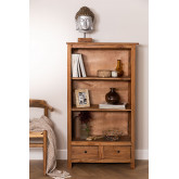 Set of 2 Bookcases in Recycled Wood Jara, thumbnail image 1