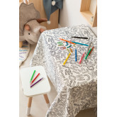 Washable Tablecloth with 12 Letters Kids Coloring Markers, thumbnail image 1