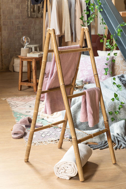 Bamboo Towel holder Ladder Leskay, gallery image 1