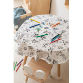 Washable Tablecloth with 12 Fanni Kids Coloring Markers, thumbnail image 1