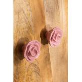 Set of 2 Knobs Pink Ceramic , thumbnail image 2