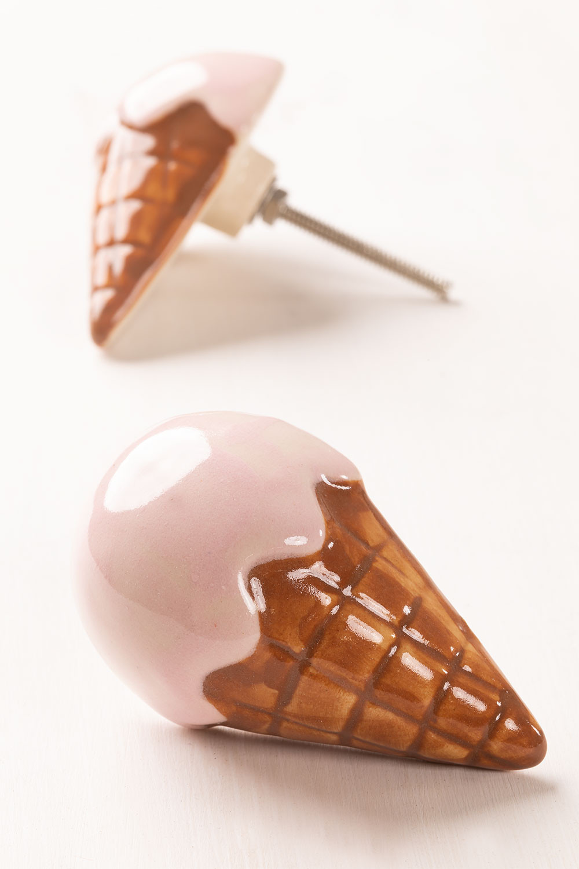 Set of 2 Ceramic Handles Ice Cream Kids, gallery image 1