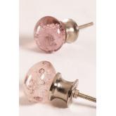 Set of 2 Bubble Glass Handles, thumbnail image 1