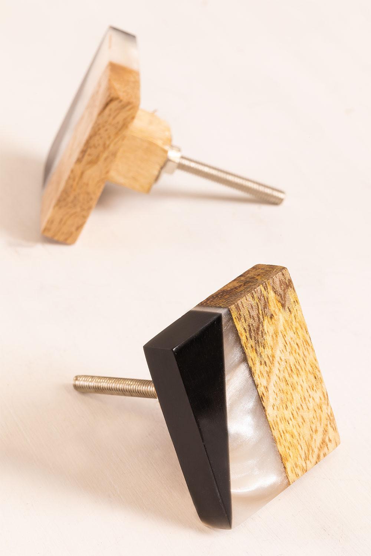 Set of 2 Knobs Aloeb , gallery image 1